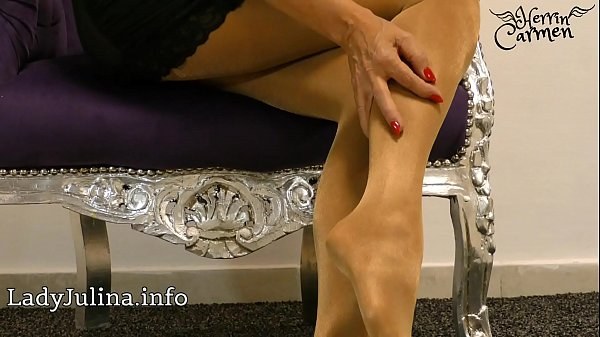 Nylon, German mature, Mistress, Nylon feet, Joi feet, High