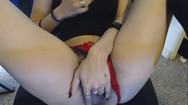 Panties, Wet pussy, Young hairy, Hairy panties, Goth