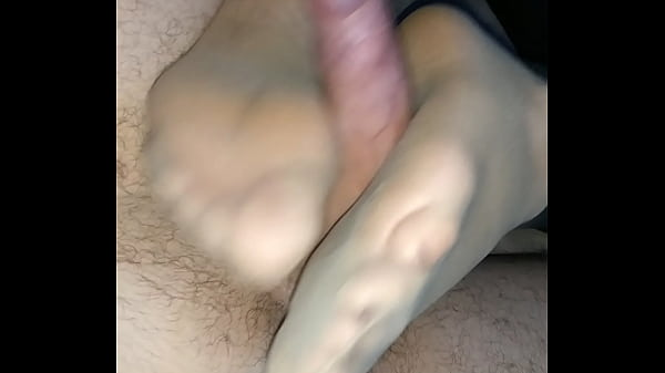 Footjob, Stockings footjob, Stocking footjob