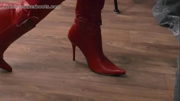 Nylon, Boots, Leather, Leather boots, Panty, Nylons